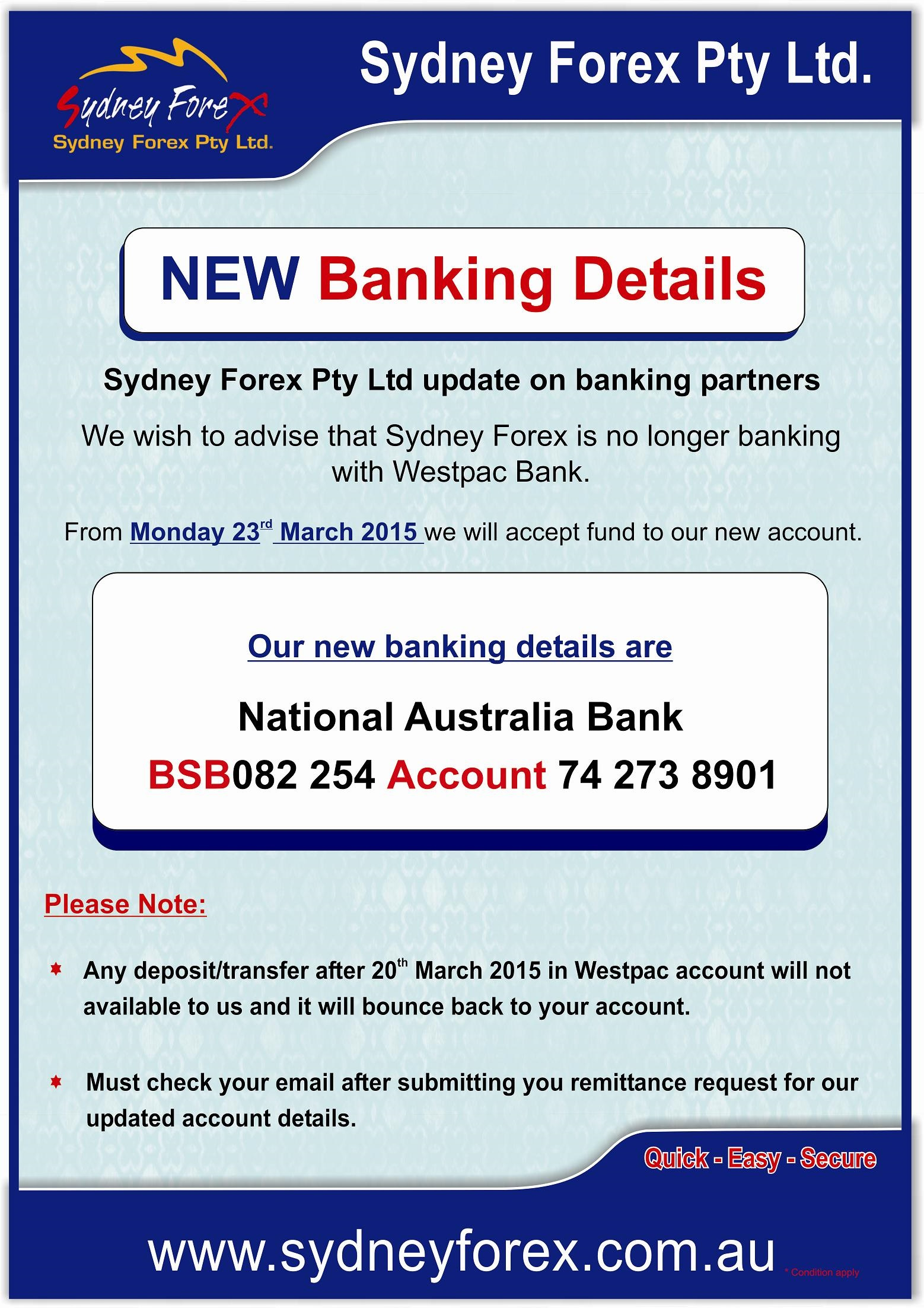 Sydney forex pty ltd